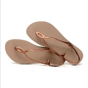 NWOT Havaianas Luna Sandal in Brown/Rose Gold Sz 7